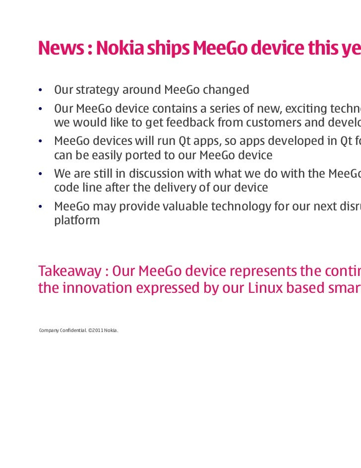 strategy of nokia for new product Connections with business strategy, innovation management,  in short, figuring out business models for a new or existing product or business is an unnecessary.