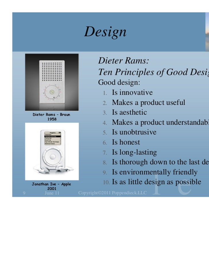 Design                                   Dieter Rams:                                   Ten Principles of Good Design     ...