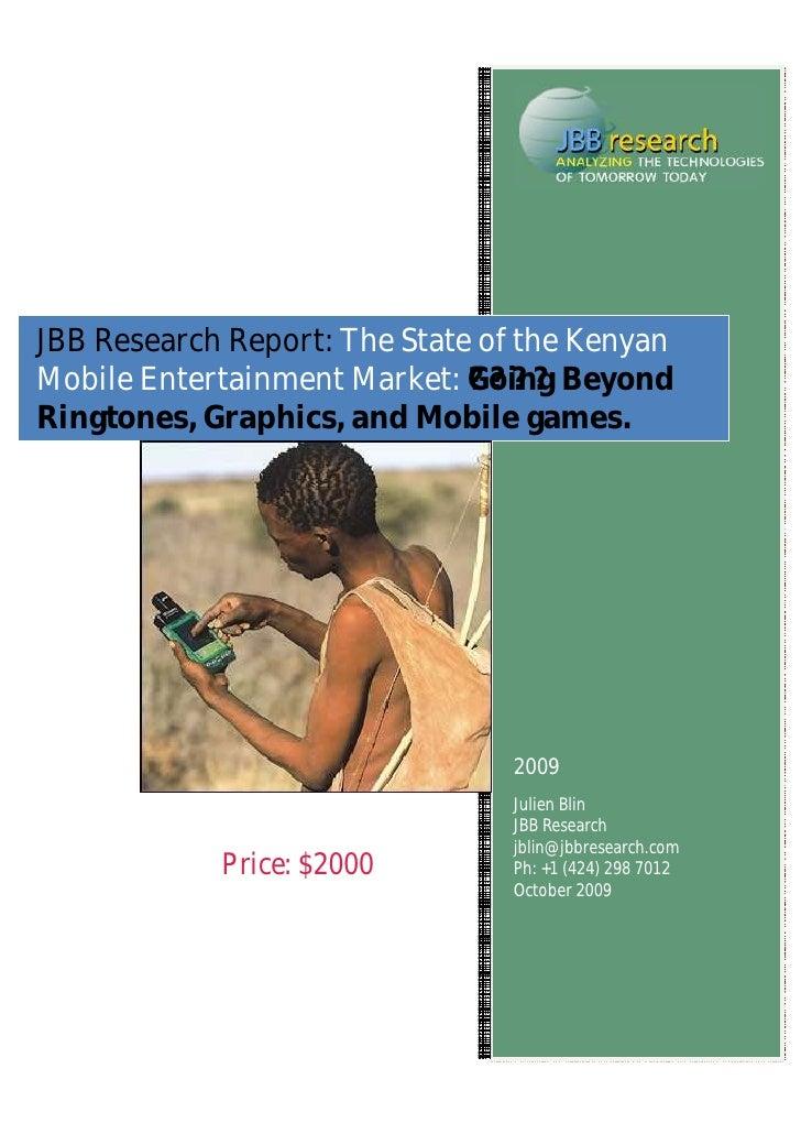 an analysis of the kenyan mobile