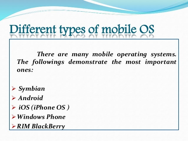 Mobile Operating Systems (Mobile OS) Explained