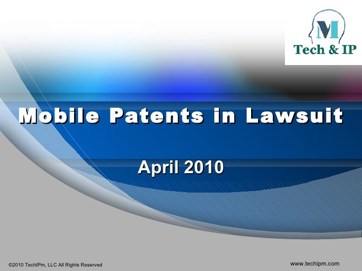 Mobile Patents in Lawsuit April 2010