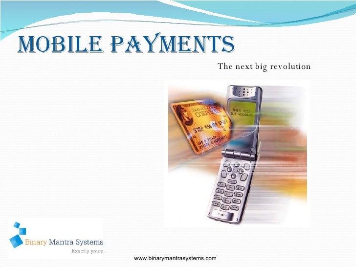 The next big revolution www.binarymantrasystems.com