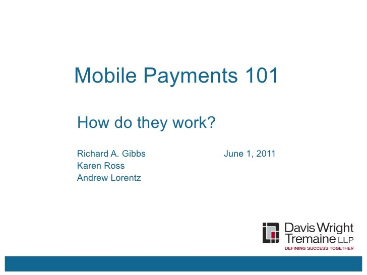 Mobile payments 101