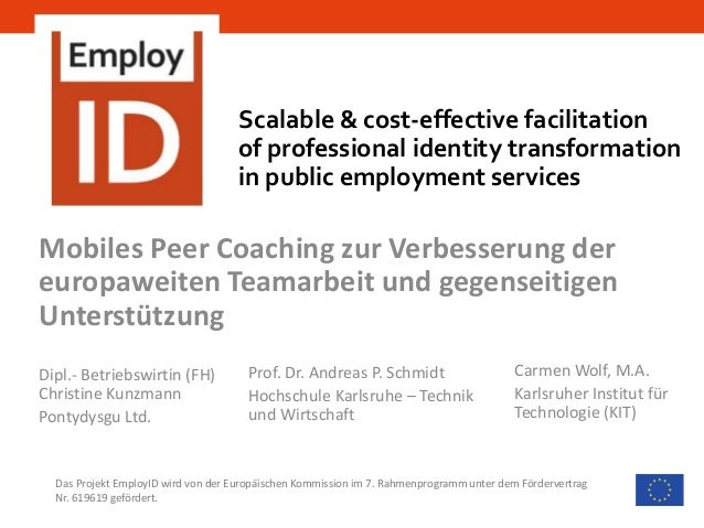 Scalable & cost-effective facilitation of professional identity transformation in public employment services Das Projekt E...