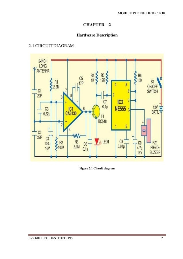 mobile phone detector pdf rh slideshare net mobile circuit diagram pdf file mobile jammer circuit diagram pdf