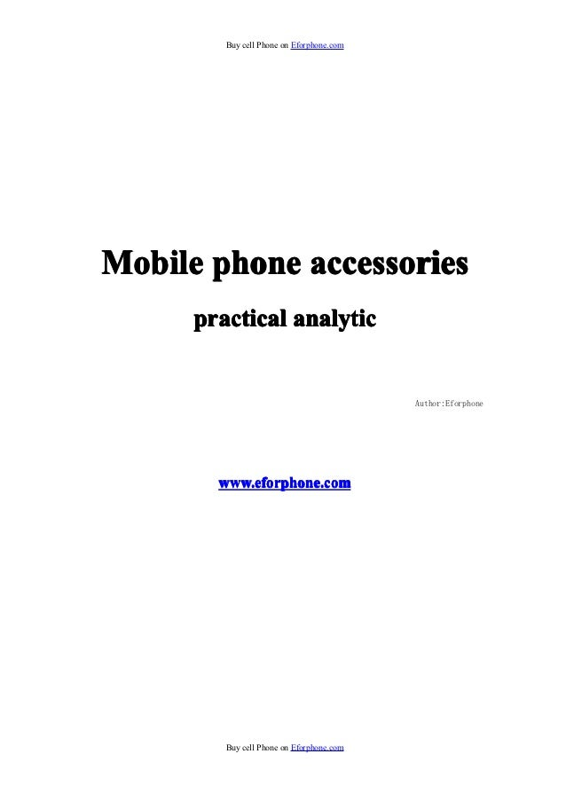 Buy cell Phone on Eforphone.comMobile phone accessories      practical analytic                                           ...
