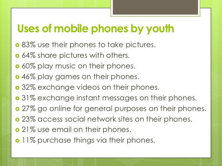 mobile youth culture While the mobile technology has been advancing rapidly, the youth around the globe have been adopting the new technologies just as rapidly along with the mobile.