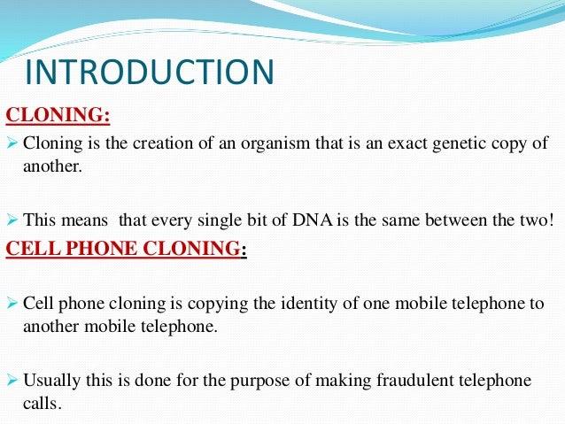 Mobile phone cloning Slide 3