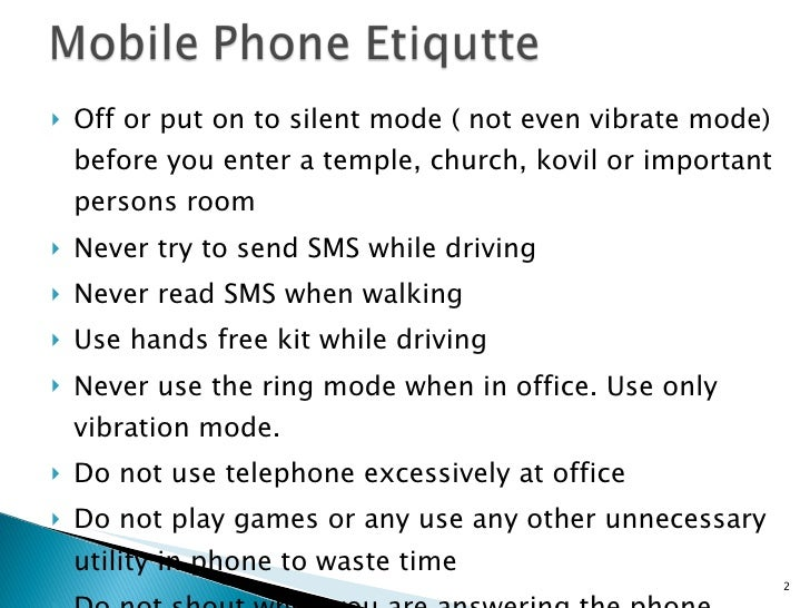 cell phone etiquette essay