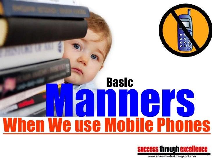 Cellular phone etiquette