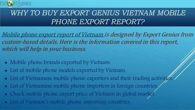 Mobile phone exports from vietnam in 2017