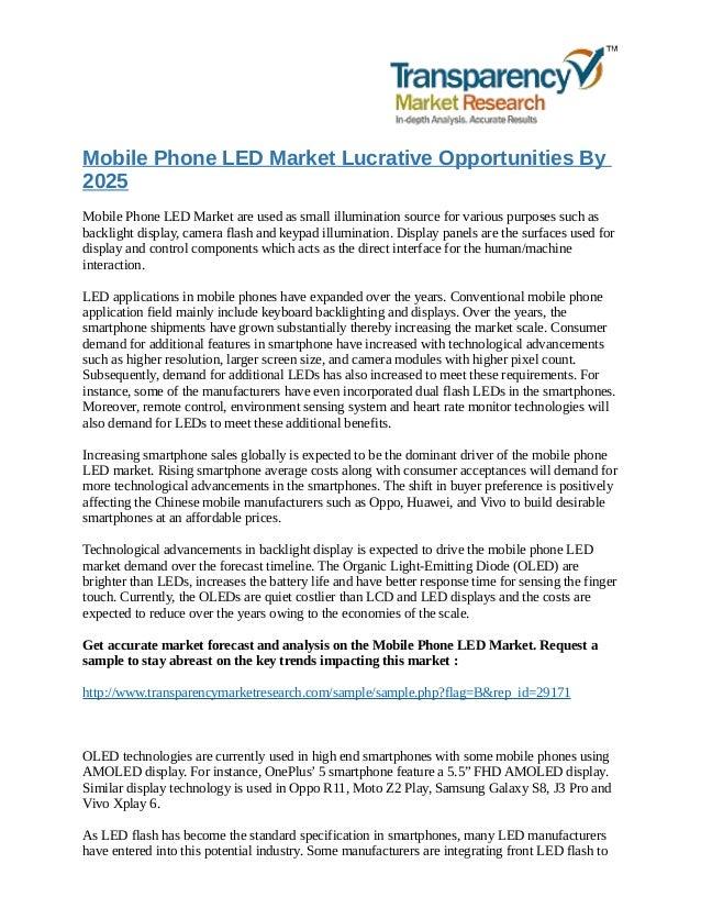 Mobile phone led market