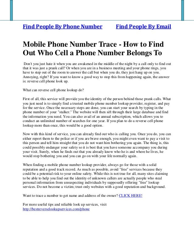 Find People By Phone Number Find People By Email Mobile Phone Number Trace - How to Find Out Who Cell a Phone Number Belon...