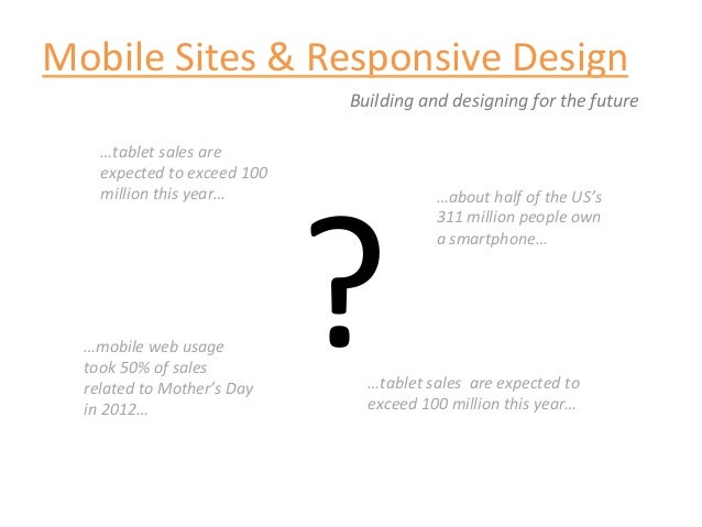 Mobile Sites & Responsive Design                                              Building and designing for ...