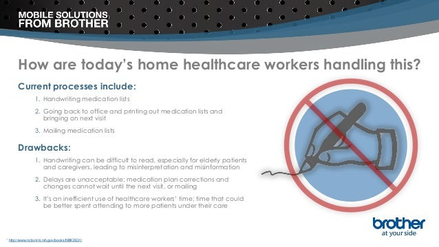 How are today's home healthcare workers handling this? Current processes include: 1. Handwriting medication lists 2. Going...