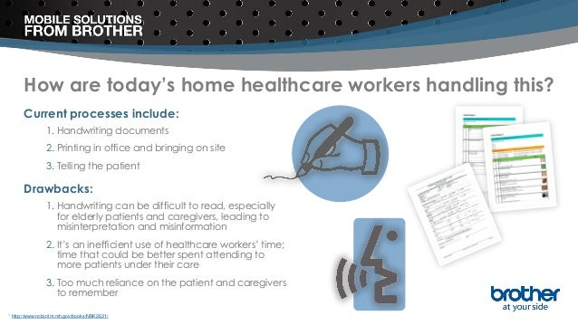 How are today's home healthcare workers handling this? Current processes include: 1. Handwriting documents 2. Printing in ...