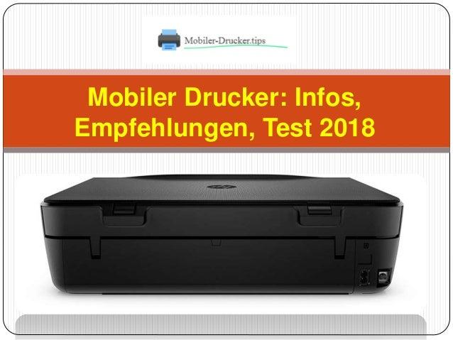 Mobiler Drucker Infos Empfehlungen Test 2018