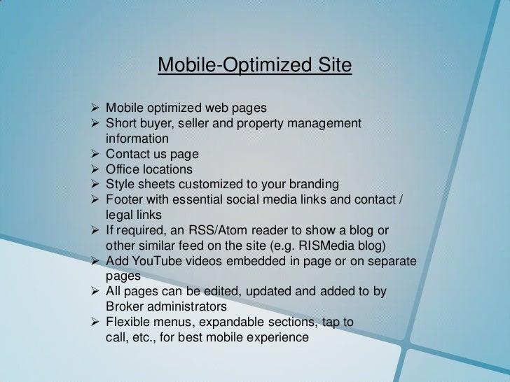 Mobile-Optimized Site<br /><ul><li>Mobile optimized web pages