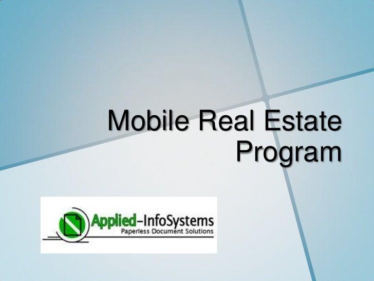 Mobile Real Estate         Program
