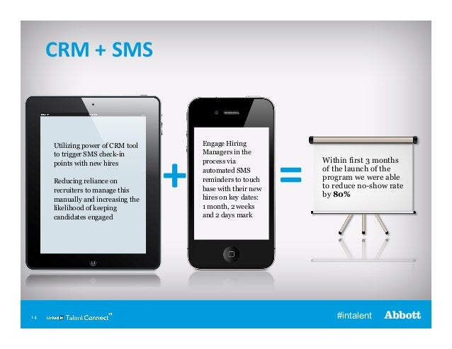 CRM  +  SMS    Utilizing power of CRM tool to trigger SMS check-in points with new hires Reducing reliance on recrui...
