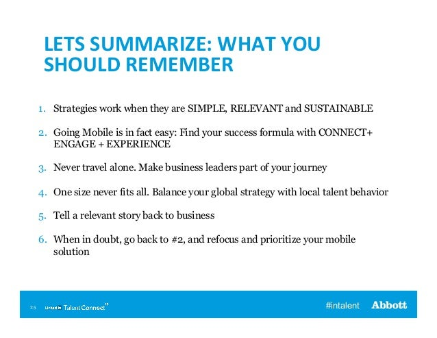 LETS  SUMMARIZE:  WHAT  YOU   SHOULD  REMEMBER   1. Strategies work when they are SIMPLE, RELEVANT and SUSTAI...