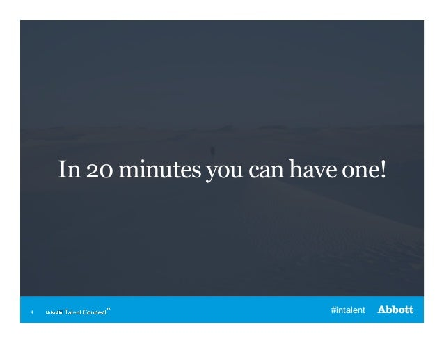 In 20 minutes you can have one!  4  #intalent