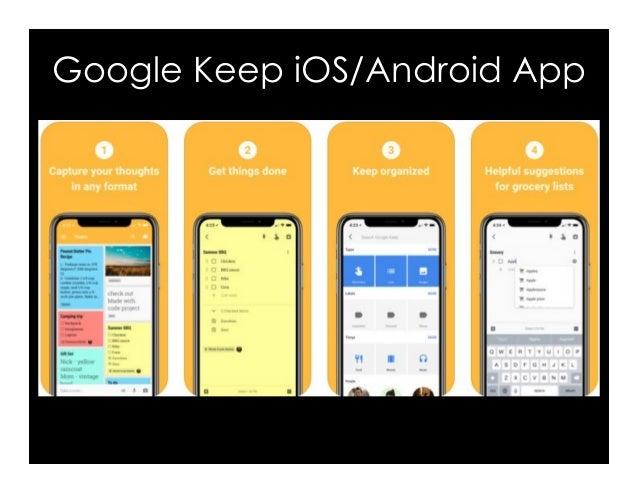Google Keep iOS/Android App