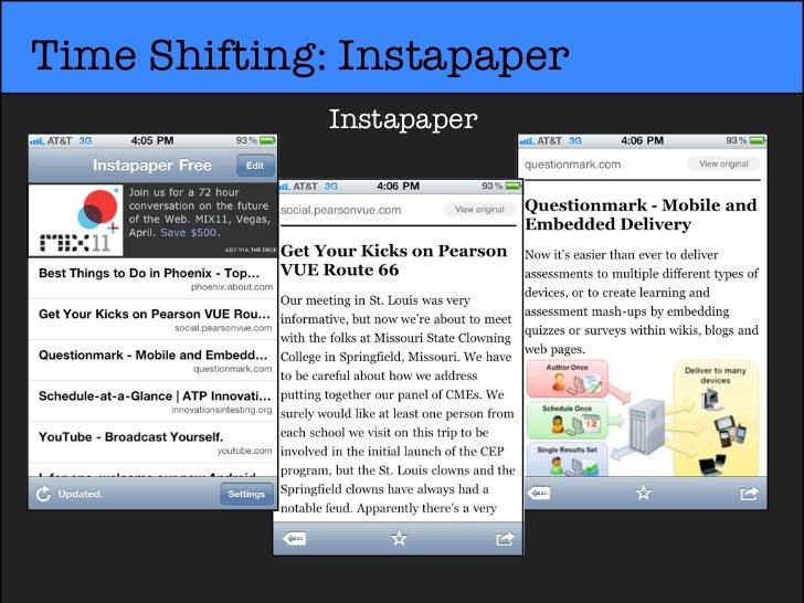 Time Shifting: Instapaper             Instapaper