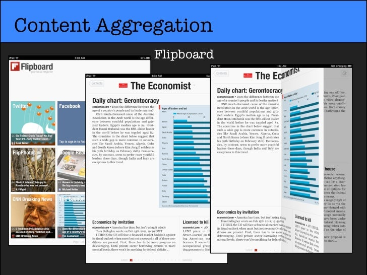 Content Aggregation             Flipboard