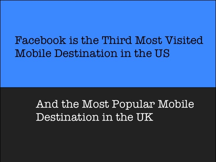 Facebook is the Third Most VisitedMobile Destination in the US   And the Most Popular Mobile   Destination in the UK