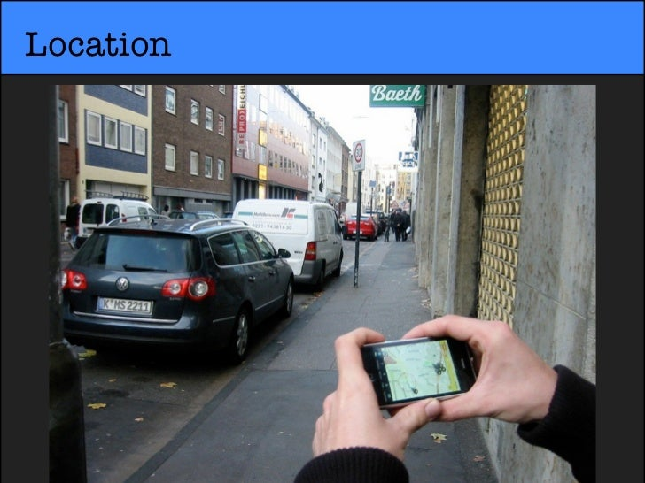 Using thephone'scamera, aninformationlayer issuperimposedover the real-world.             Augmented Reality