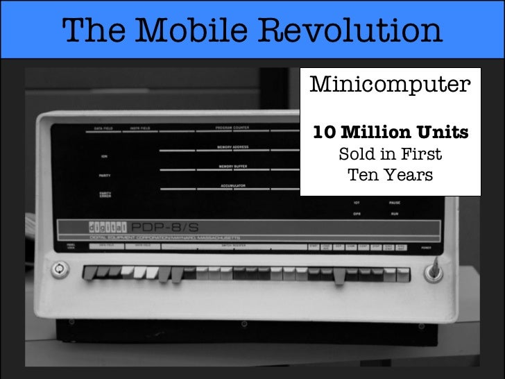 The Mobile Revolution             Minicomputer             10 Million Units               Sold in First                Ten...