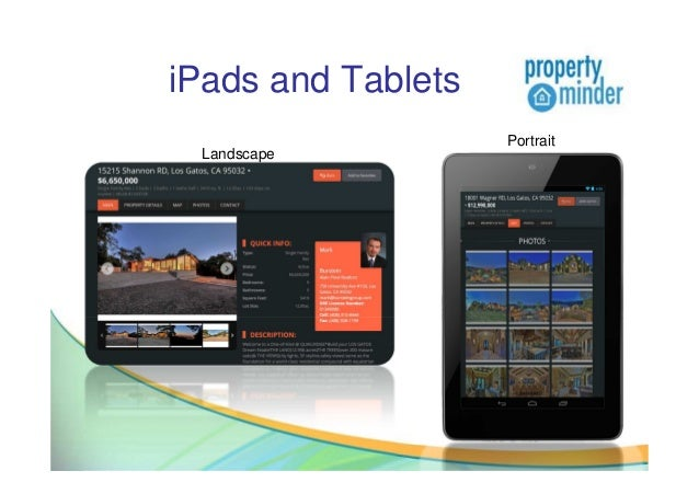 iPads and TabletsLandscapePortrait