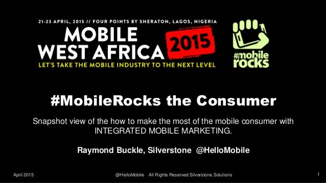 #MobileRocks the Consumer Snapshot view of the how to make the most of the mobile consumer with INTEGRATED MOBILE MARKETIN...