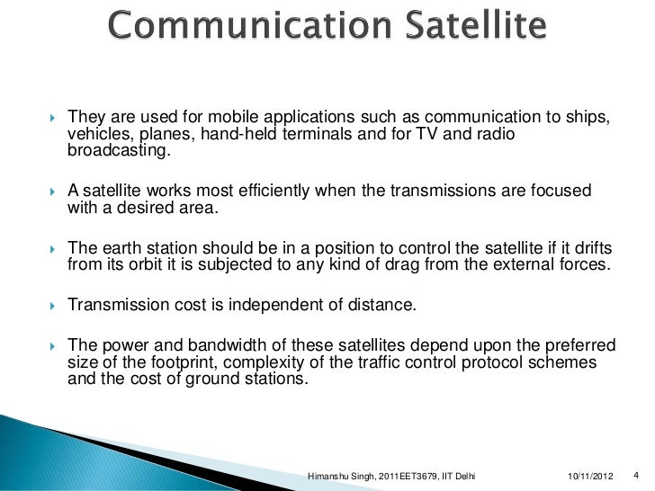 Mobile satellite communication