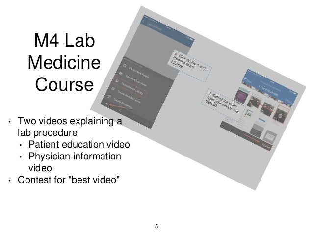 M4 Lab Medicine Course • Two videos explaining a lab procedure • Patient education video • Physician information video • C...