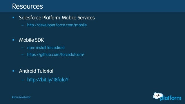 Intro to the salesforce mobile sdk building android apps for Android ar sdk