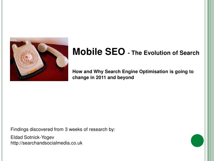 Mobile SEO - The Evolution of Search