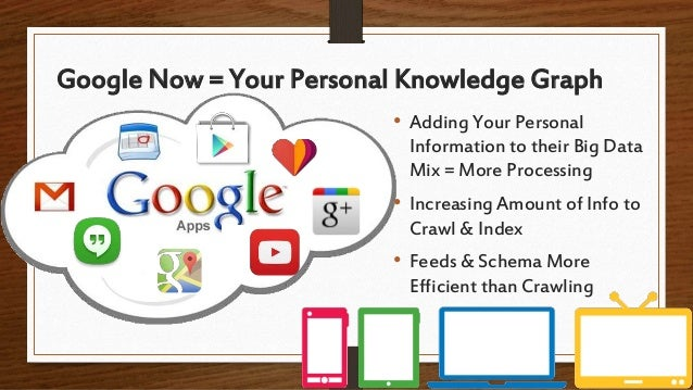 Google Now = Your Personal Knowledge Graph • Adding Your Personal Information to their Big Data Mix = More Processing • In...