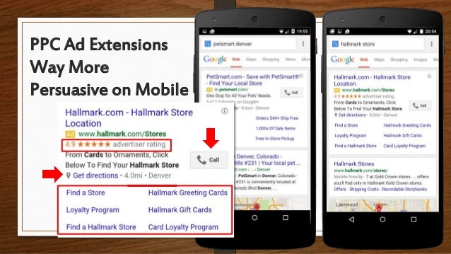 PPC Ad Extensions Way More Persuasive on Mobile