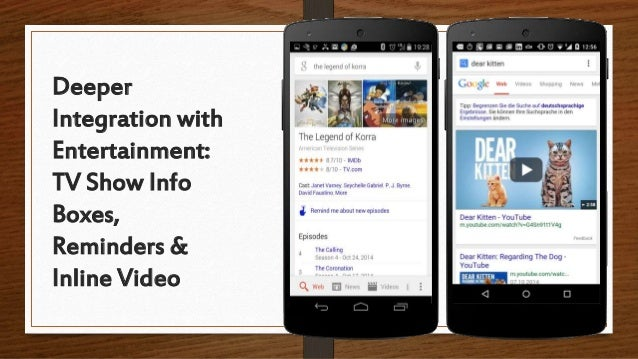 Deeper Integration with Entertainment: TV Show Info Boxes, Reminders & Inline Video