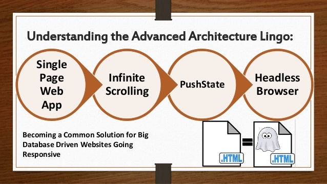 Understanding the Advanced Architecture Lingo: Becoming a Common Solution for Big Database Driven Websites Going Responsiv...