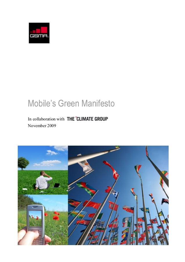 Mobile's Green Manifesto In collaboration with November 2009