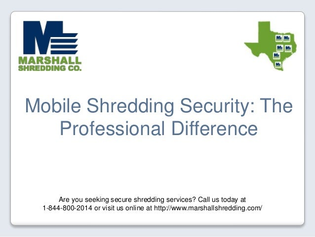 Mobile Shredding Security: The Professional Difference