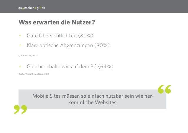 15  Was erwarten die Nutzer? ++ Gute Übersichtlichkeit (80%) ++ Klare optische Abgrenzungen (80%) Quelle: BVDW, 2011  ++ G...