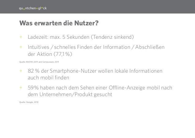 16  Was erwarten die Nutzer? ++ Ladezeit: max. 5 Sekunden (Tendenz sinkend) ++ Intuitives /schnelles Finden der Informati...