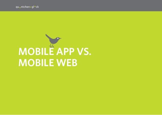 21  MobilE App vs. Mobile Web