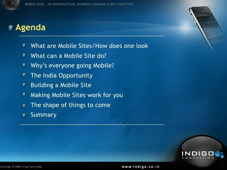 Mobile Internet in India - Opportunities & Possibilities Slide 2