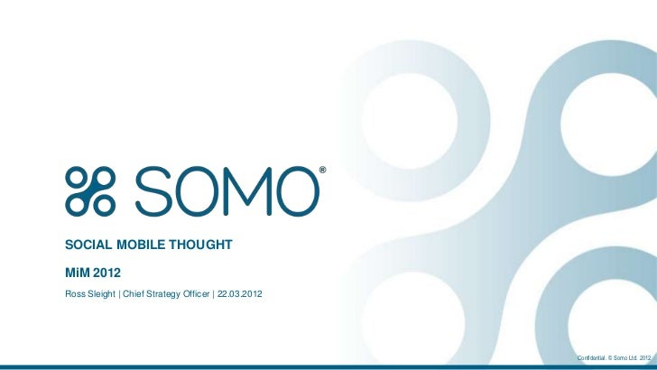 SOCIAL MOBILE THOUGHTMiM 2012Ross Sleight | Chief Strategy Officer | 22.03.2012                                           ...