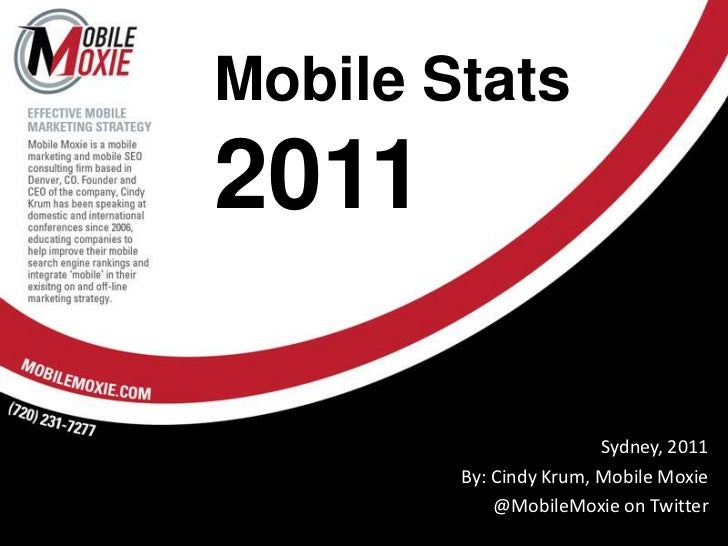 Mobile Stats2011<br />Sydney, 2011<br />By: Cindy Krum, Mobile Moxie<br />@MobileMoxie on Twitter<br />